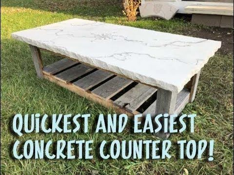 How To Make A Concrete Counter Top In 1 Hour Youtube Concrete Counter Concrete Countertops Diy Concrete Patio