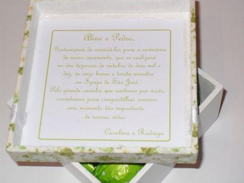 Convites de Casamento com presente para Padrinhos