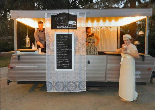 """pop up turned into coffee trailer--- an open look and lighting makes a difference. So does having the menu on a separate :non food truck"""" location!"""