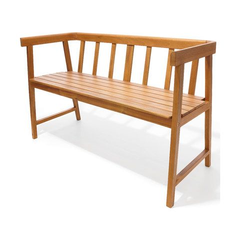 Timber Bench Brown Kmart In 2020 Timber Bench Seat Wooden