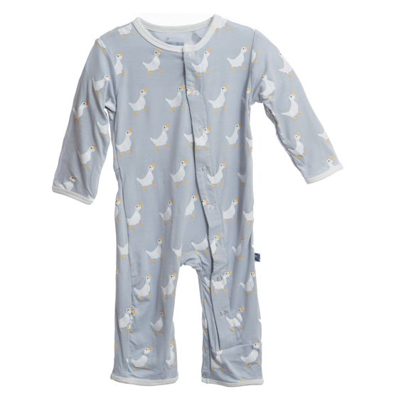 Print Coverall - Pearl Duck