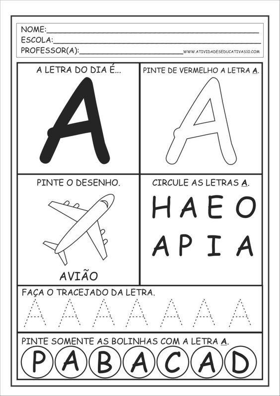 Treinando O Alfabeto Com Imagens Atividades Atividade