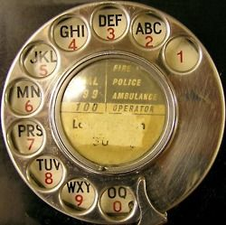 Rotary-dial telephone. No Q.