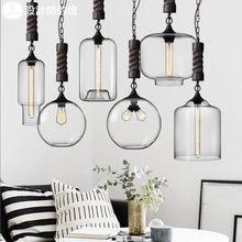 Дизайнер гостиной лампа-бар Кафе Ресторан Continental лампа люстра современный минималистский затора промышленный коноплю