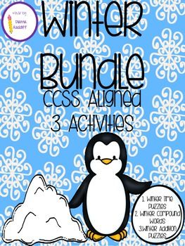 1st & 2nd Winter Bundle: Reading & Math (3 Pack all CCSS Aligned)
