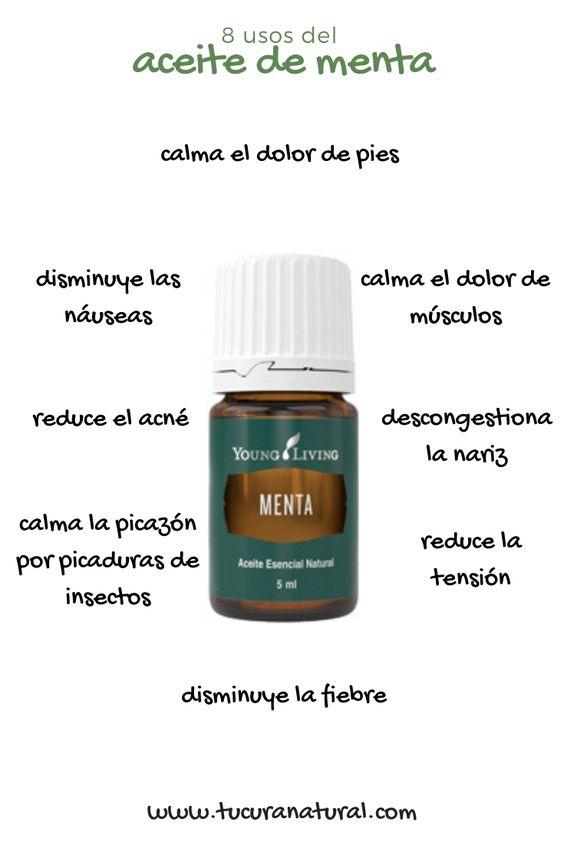 uso del aceite de menta