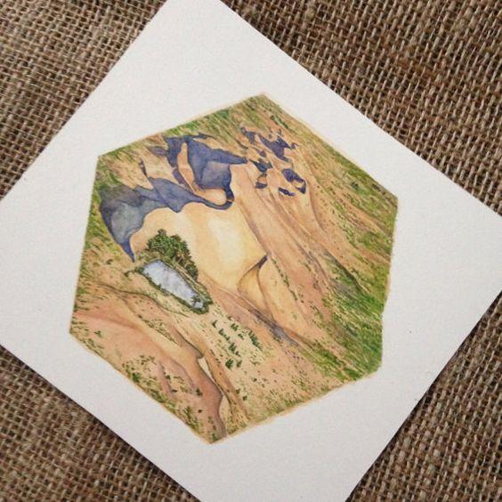 Die Siedler von Catan Brett Spiel Kunst Wüste Hex Artwork - Einmaliges Geschenk für Catan-fan