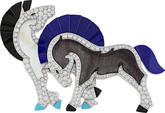 Wild Horses Brooch by Van CLeef and Arpels