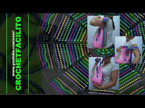 CROCHET - 7. UN BOLSO ROSADO - A PINK BAG !! - YouTube