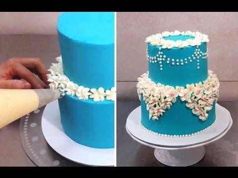 Cake Decorating Buttercream Techniques : Buttercream piping design easy to make. Buttercream piping ...