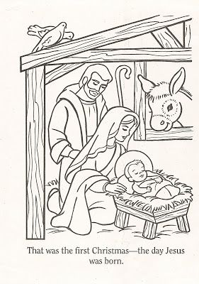 LDS Nursery Color Pages Christmas