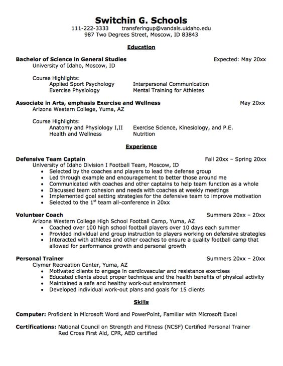 Transfer Student Resume Sample - Http://Exampleresumecv.Org