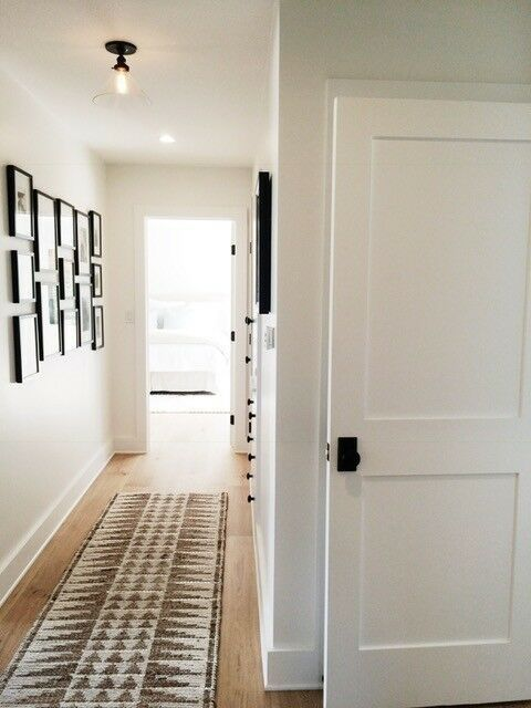 2 Flat Panel Primed Mission Shaker Stile Rail Solid Core Mdf Doors Door Slabs Ebay Wood Doors Interior Farmhouse Interior