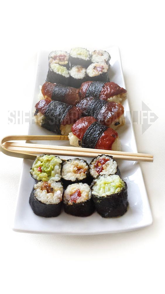 Sashimi, Nigiri y Maki Sushi Vegan