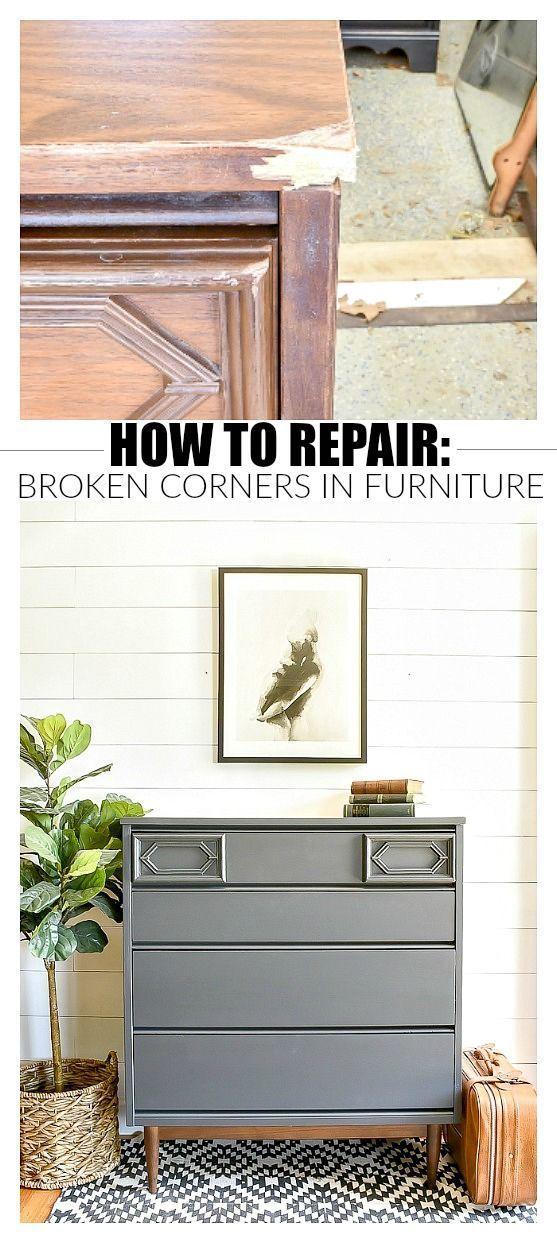 Furniture Makeover How To Repair Broken Corners On Furniture Furniture Makeover Diy Repurposed Furniture Furniture Makeover