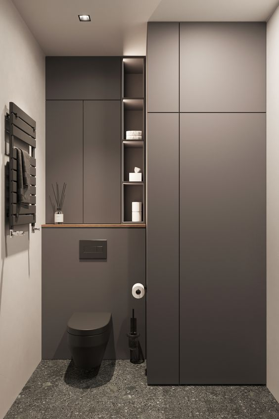 飾り棚 トイレ おしゃれ インテリア オープン棚 実例 コーディネート