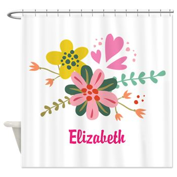 Personalized Pretty Flowers Shower Curtain hower curtains http ...