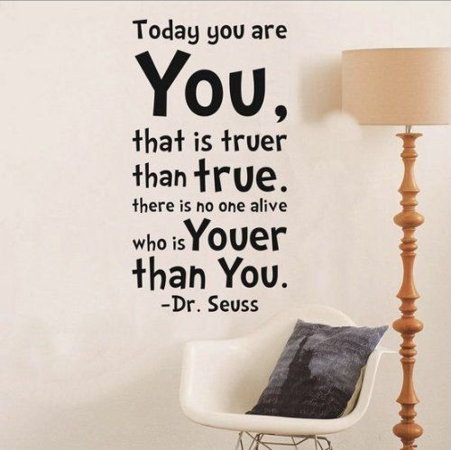 Today You Are You Wall Art Vinyl Decals Toprate by Walldecorative