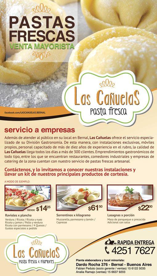 """flyer para venta mayorista """"Las Cañuelas"""""""