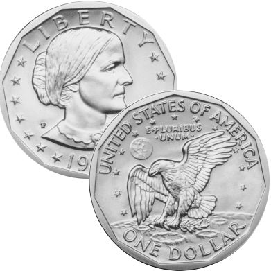 1st US coin to honor a woman~Susan B. Anthony dollar  July 2, 1979