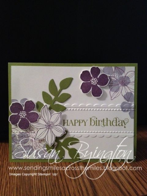 This Card Was Made With Stampin' Up! Secret Garden Stamp
