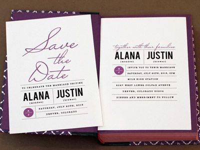 Love Vs Design Wedding Invitation Clean And Classic