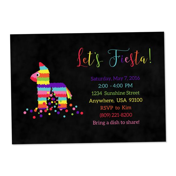 A personal favorite from my Etsy shop https://www.etsy.com/listing/261960214/fiesta-invitation-first-fiesta