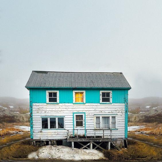 Oh yellow turquoise house! #yellowoclock  Fogo island #exploreNL #explorecanada by yellowillow