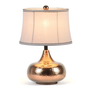 Hammered Gold Metal Table Lamp