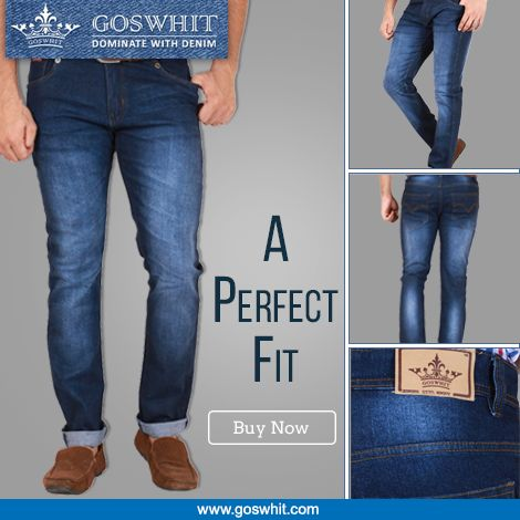 #Express the real you in the world of #Fashion & go for a denim look with this authentic #Goswhit jeans. Shop Now :- http://goo.gl/FRjY9D