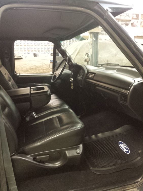 Inside My 1993 F350 Big Blue Full Black Interior Ford