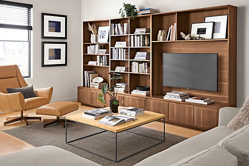 Keaton Bookcase Wall Units Modern Bookcases Shelving Modern