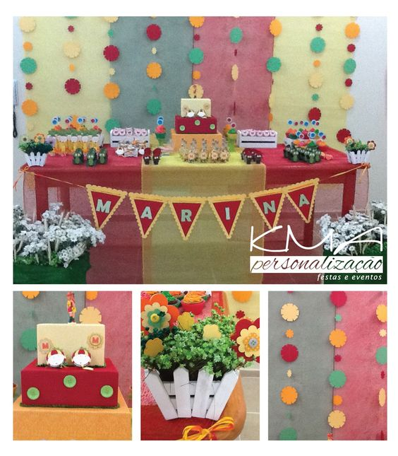 KMA Personalização Festas e Eventos: Vai ter festa no sítio da Marina - Decoração de aniversário