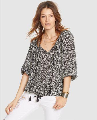 Blusa boho de mujer Denim & Supply Ralph Lauren con estampado floral