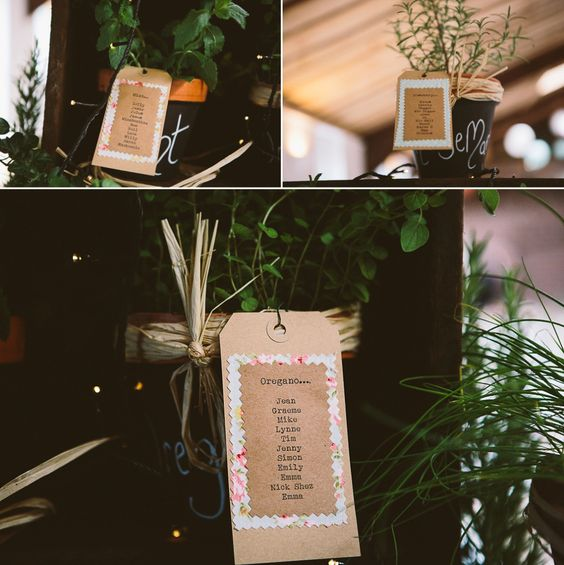 Herb Plants, Peach Blooms and Maids in Mint Green - A Rustic Summer Barn Wedding | Love My Dress® UK Wedding Blog
