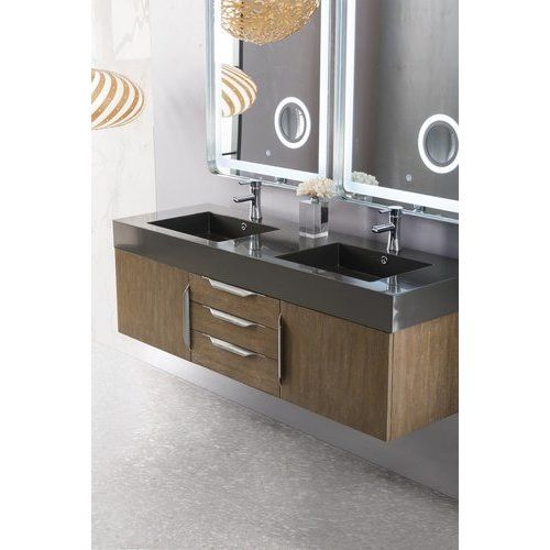 James Martin 59 Inch Mercer Island Double Faucet Vanity With