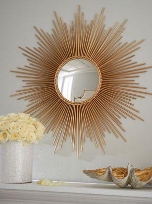 Global Views Thin Sunray Mirror at Horchow