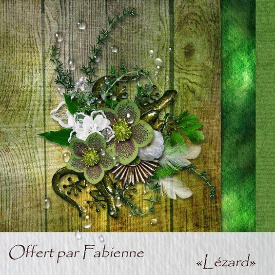 """freebie mini kit """"lézard"""" by Fabienne - 2014"""