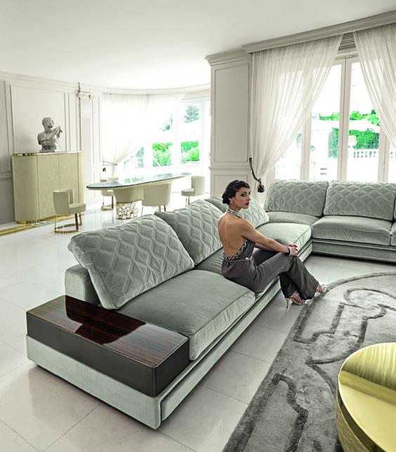 Ecksofa Satellite   Das Komfortable Sofa Besticht Durch Eine Bequeme  Polsterung, Welche Mit Einer Viereckig Gesteppten Musterung überzeugt.