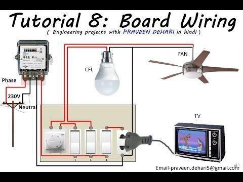 Electrical Board Wiring Tutorial 8 Youtube Electricity Electrical Installation Electrical Panel Wiring