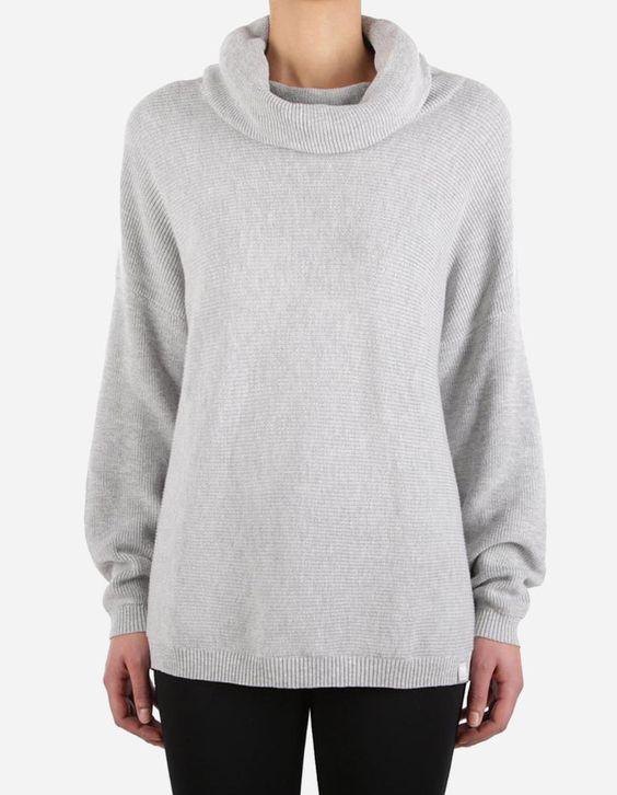 iriedaily - Mock Turtle Knit grey-mel