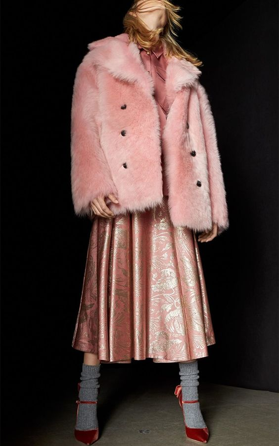 Double Breasted Shearling Coat by Rochas