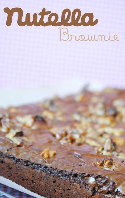The Sweetest Taste: Brownie de Nutella