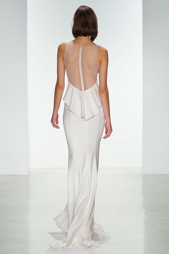 10 Modern & Minimal Wedding Gowns: Amsale