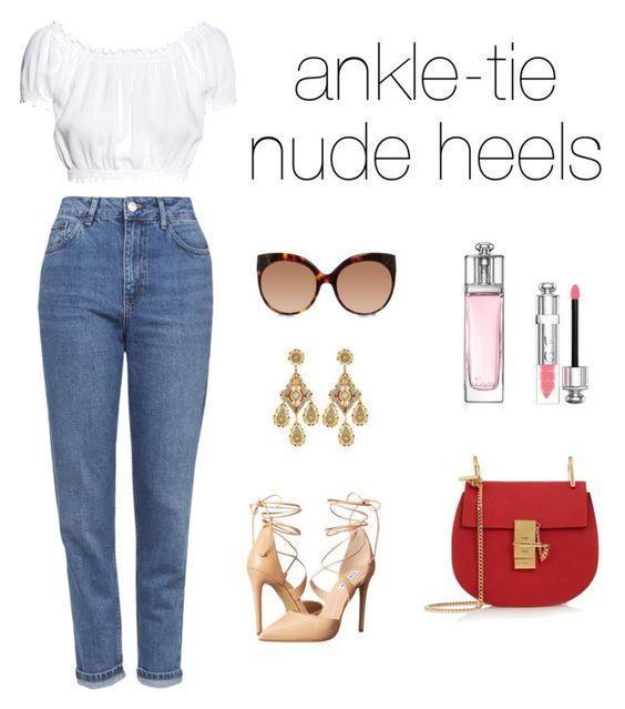 """""""daily look #19"""" by modznikola ❤ liked on Polyvore featuring H&M, Topshop, Chloé, Steve Madden, Miguel Ases, Linda Farrow and Christian Dior"""