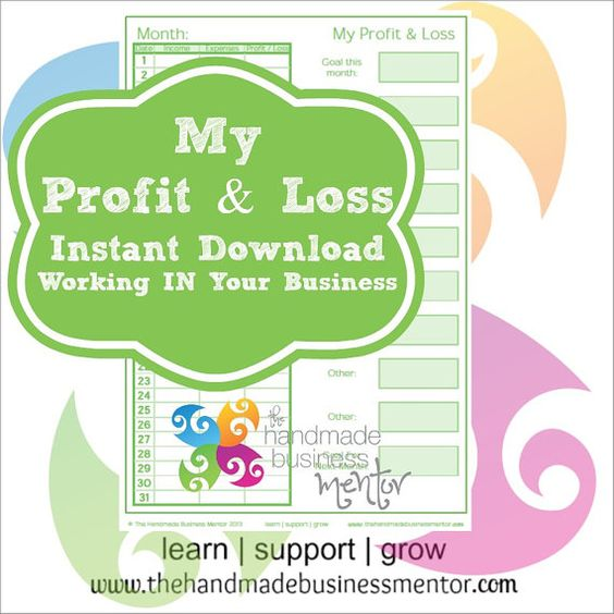My Profit \ Loss Business Tool GREEN INSTANT DOWNLOAD by TheHMBM - business profit and loss form