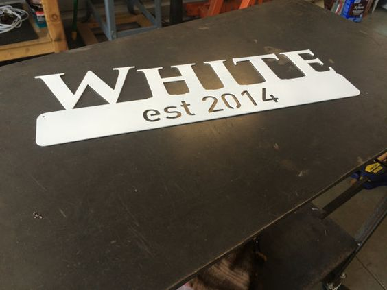 Custom Metal Sign  Last Name  Established Year  by ThinkMetalCNC
