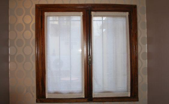 Visillos sin frunce de gasa italiana natural para - Visillos para dormitorios ...
