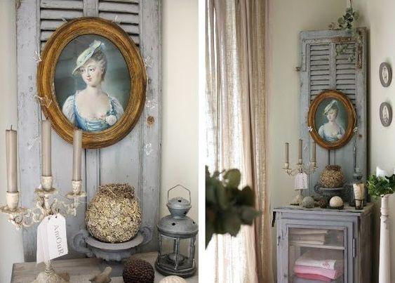 Déco et recyclage de vieux volets et persiennes en bois ! u2026 Pinterest # Vieux Volet En Bois