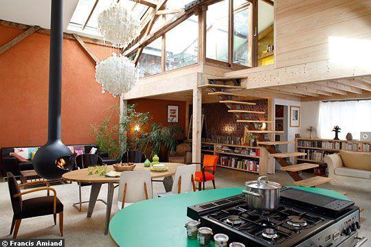 déco mezzanine loft | Loft | Pinterest | Mezzanine loft, Mezzanine ...